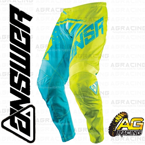 Answer 2018 Syncron Yellow Blue Adult Race Pants Trousers Motocross Enduro