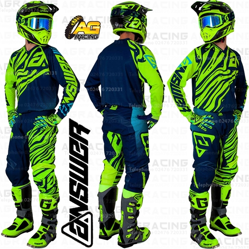 Hyper Acid//Midnight//Astana Answer Racing A19 Syncron Flow Mens Off-Road Motorcycle Pants 36