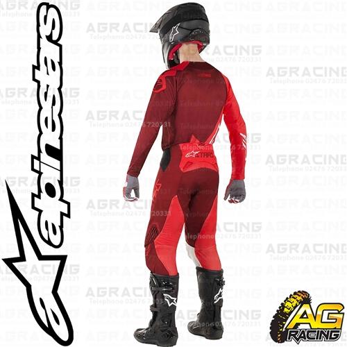 2019 Alpinestars Techstar Factory Red Burgundy MX Offroad Motocross Pants Adults