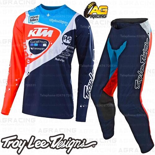 Navy//Orange, X-Large Troy Lee Designs Mens Off-Road Motocross Motorcycle SE Pro Neptune Jersey