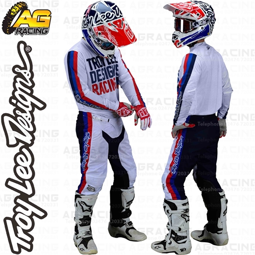 18, White Troy Lee Designs Youth Kids Motocross Offroad GP Air Premix 86 Pant