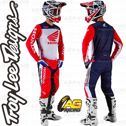 Troy Lee Designs 2019 Gp Pants Honda White//Navy 36